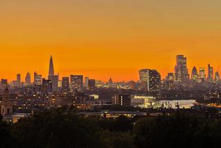 London heartbeat (City of London from Greenwich, London, United Kingdom)