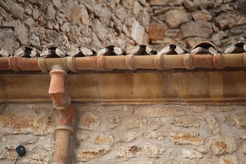 grondàia e pluviale in terracotta