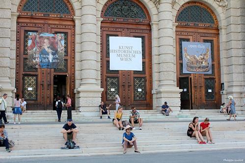 Vienne : l'entrée du Musée des Beaux-Arts