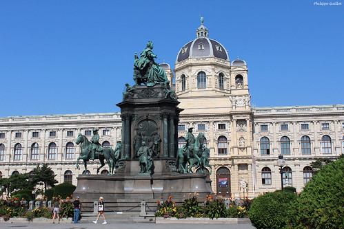 Vienne : le monument en l'honneur de Marie-Thérèse