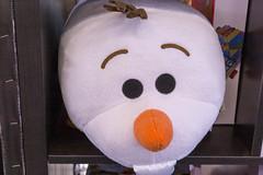 Großes Schneemann Plüsch mit Karotte als Nase