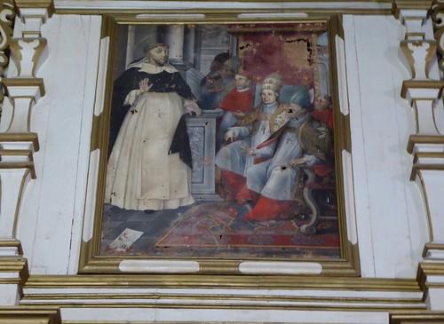 Guimar (Tenerife-España). Iglesia del Ex convento de Santo Domingo. Retablo lado Evangelio. Detalle
