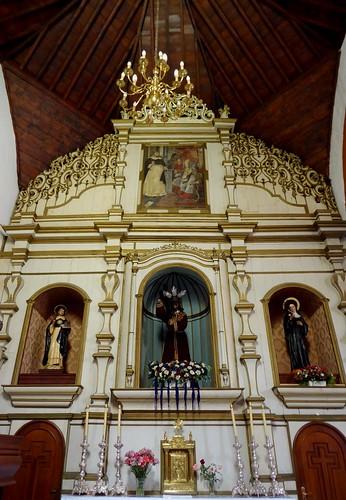 Guimar (Tenerife-España). Iglesia del Ex convento de Santo Domingo. Retablo lado Evangelio