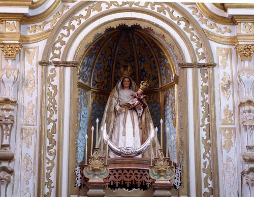 Guimar (Tenerife-España). Iglesia del Ex convento de Santo Domingo. Retablo Mayor. Virgen de Nuestra Señora del Rosario