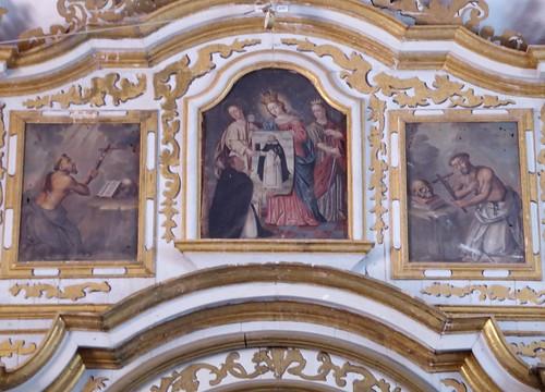 Guimar (Tenerife-España). Iglesia del Ex convento de Santo Domingo. Retablo Mayor. Detalle