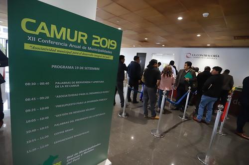 """XII Conferencia anual de municipalidades CAMUR 2019  - REMURPE """"Asociatividad  Municipal Para El Desarrollo  Integral del País"""""""