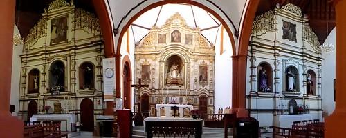 Guimar (Tenerife-España). Iglesia del Ex convento de Santo Domingo. Conjunto de los retablos