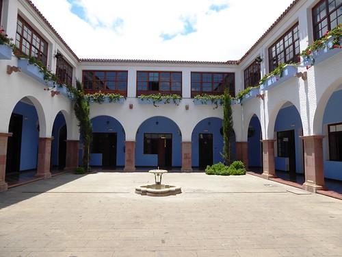 Guimar (Tenerife-España). Ex convento de Santo Domingo (Actual Ayuntamiento). Claustro