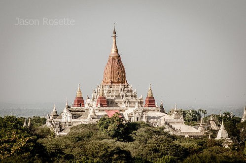 Massive Temple Complex on Forested Hill in Burma