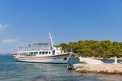 Excursion ship to Zogeria Beach on Spetses, Greece