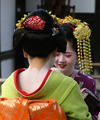 (Representative image) I spotted a pair of geisha from the bus