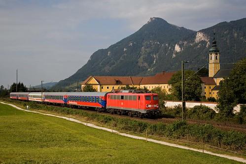 DB 110 236 + Sonderzug Trier - Kirchberg in Tirol  - Oberaudorf