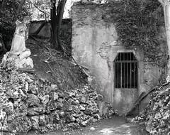 Le Jardin du Calvaire. Carcassonne, Aude, France (Crown Graphic, Graflex Optar 4,5. Ilford HP5+) [ref:02]