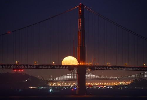 Fireball over Golden Gate Bridge
