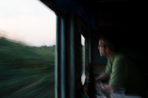 Pondering the Passing Countryside in Burma, Seen from Train