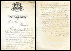 Brev fra politisjefen i Hamburg om kjøpmannsdatter Maria Haeusers opphold i Trondhjem (1859)