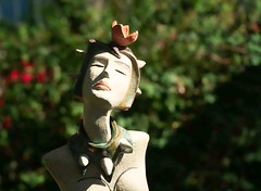 LADY SUCCULENT AND SLEEPING LADY CACTUS BY MERCE CANADELL - SCULPTURE IN CONTEXT 2019 [SONY 90MM MACRO LENS]-155913