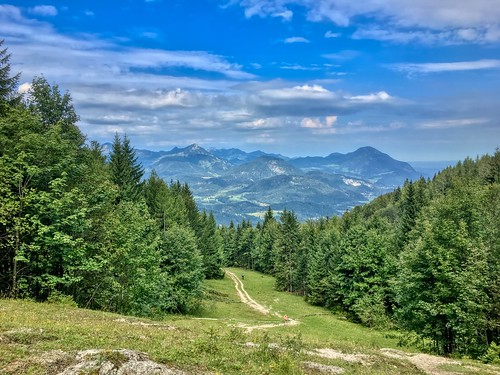 View from Stadtberg mountain near Kufstein, Tyrol, Austria