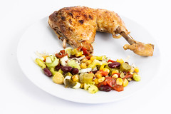 Grilled Chicken Drumstick with Vegetable salad