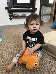 Nephew with toy