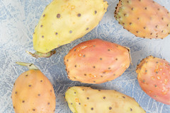 Indian Figs on the blur table