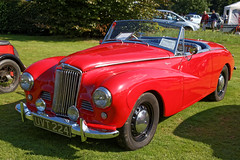 1954 Sunbeam Talbot Alpine sports roadster at Capel Manor, Enfield, London, England 1