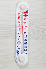 Household alcohol thermometer showing temperature in degrees Celsius