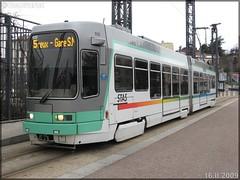 Alsthom TFS (Tramway Français Standard) – TPAS (Transports Publics de l'Agglomération Stéphanoise) (Veolia Transport) / STAS (Société de Transports de l'Agglomération Stéphanoise) n°935