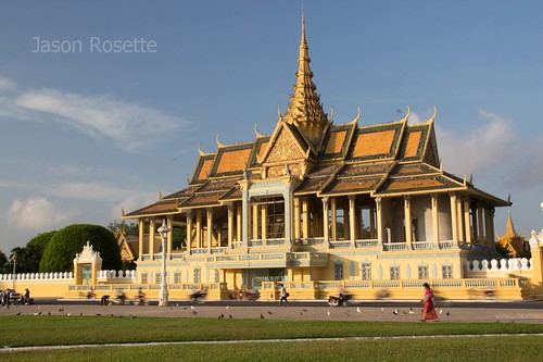Wide View of Royal Palace in Phnom Penh, Cambodia