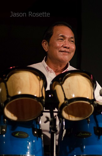 Percussionist during a show in Bangkok, Thailand