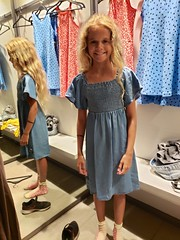 Violet Trying On Dresses At Zara