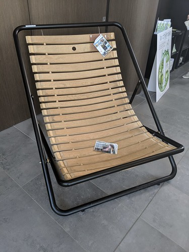Chair made from old barrel staves...
