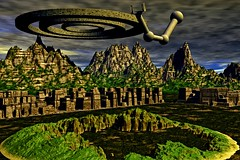 Extraterrestrial residential landscape