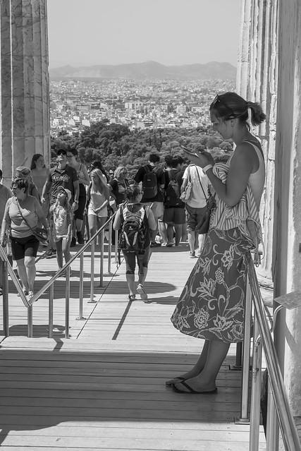 l'Acropoli ateniese e i suoi ospiti