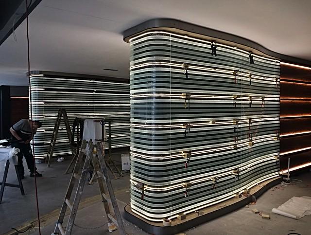 montáž uměleckých skel