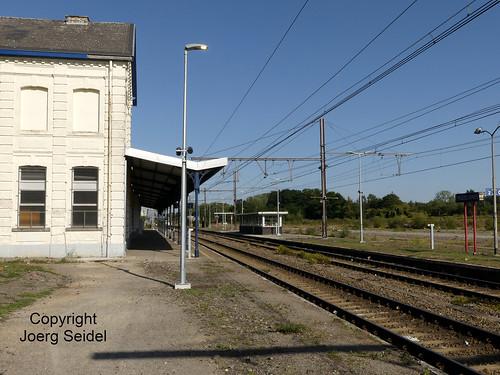 BE-6560 Erquelinnes Gare SNCB im September 2019