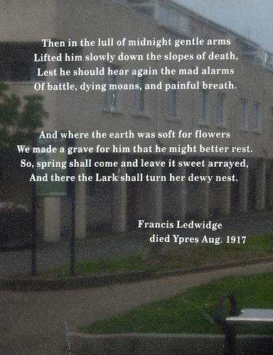 Francis Ledwidge died Ypres Aug. 1917 (vedi traduzione)
