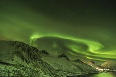 Aurora Boreal fiordos de Senja  Rutas Escénicas de Senja