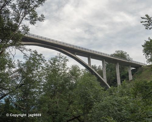 VAL210 Via Principala Road Bridge over the Valser Rhine, Uors - Surcasti, Canton of Grisons, Switzerland