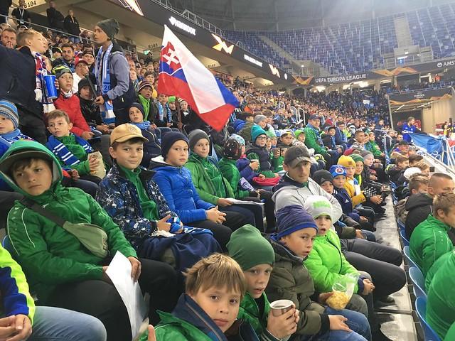 Pezinská mládež na EL Slovan - Besiktas (09/2019)