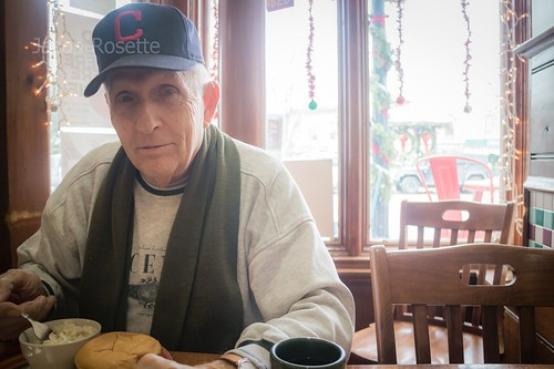 Portrait of a Man at Dink's Cafe., Ohio