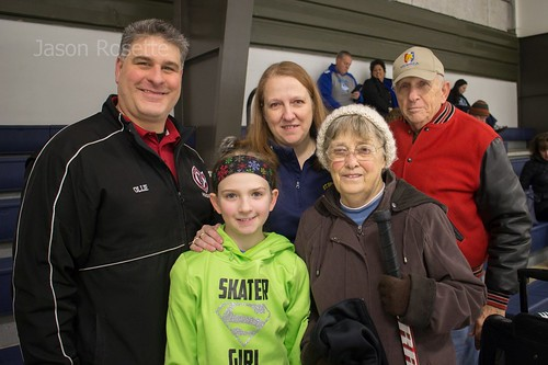 Portrait of a Family at a Hocky Match