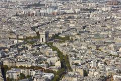 El Arco del Triunfo desde la Torre Eiffel