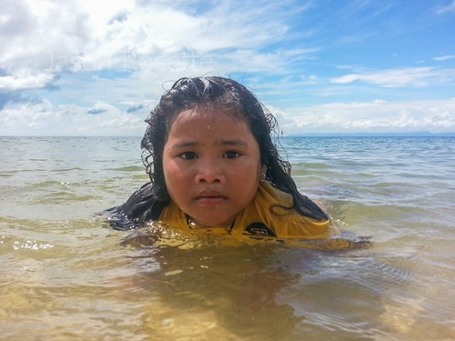Girl in Shallow Surf, Cambodia