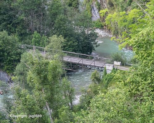 VAL220 Sogn Luregn Bridge over the Valser Rhine, Uors - Surcasti, Canton of Grisons, Switzerland