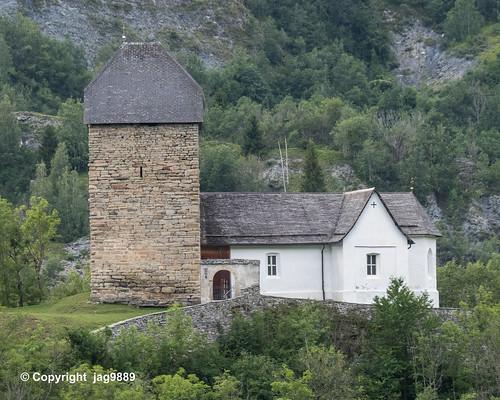 Surcasti Castle and Sogn Luregn Church, Surcasti, Canton of Grisons