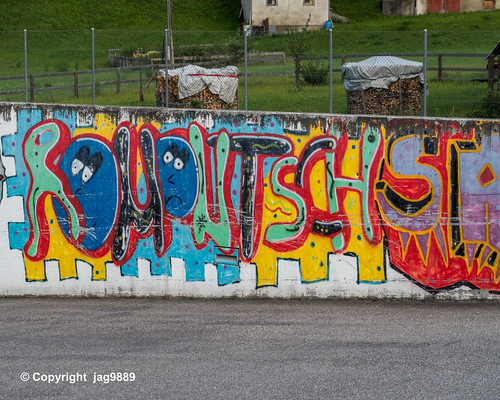 School Graffiti Mural, Uors, Canton of Grisons