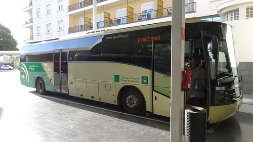 Comes Bus to La Línea de la Concepción, Spain and Gibraltar at Algeciras, Andalusia, Spain