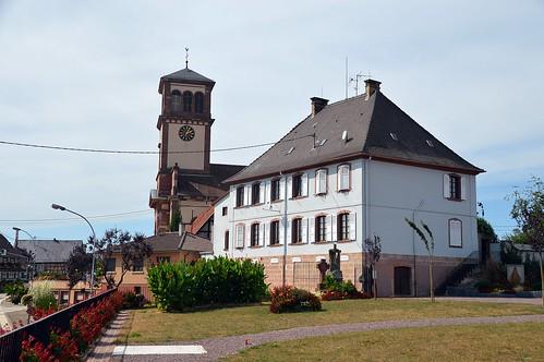 Kirchturm der Michaelskirche in Soufflenheim