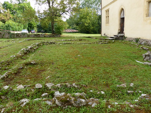Sorde-l'Abbaye, Landes. Emplacement de l'Atrium de la villa romaine